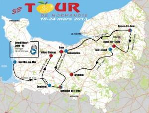 parcours Tour de Normandie 2013