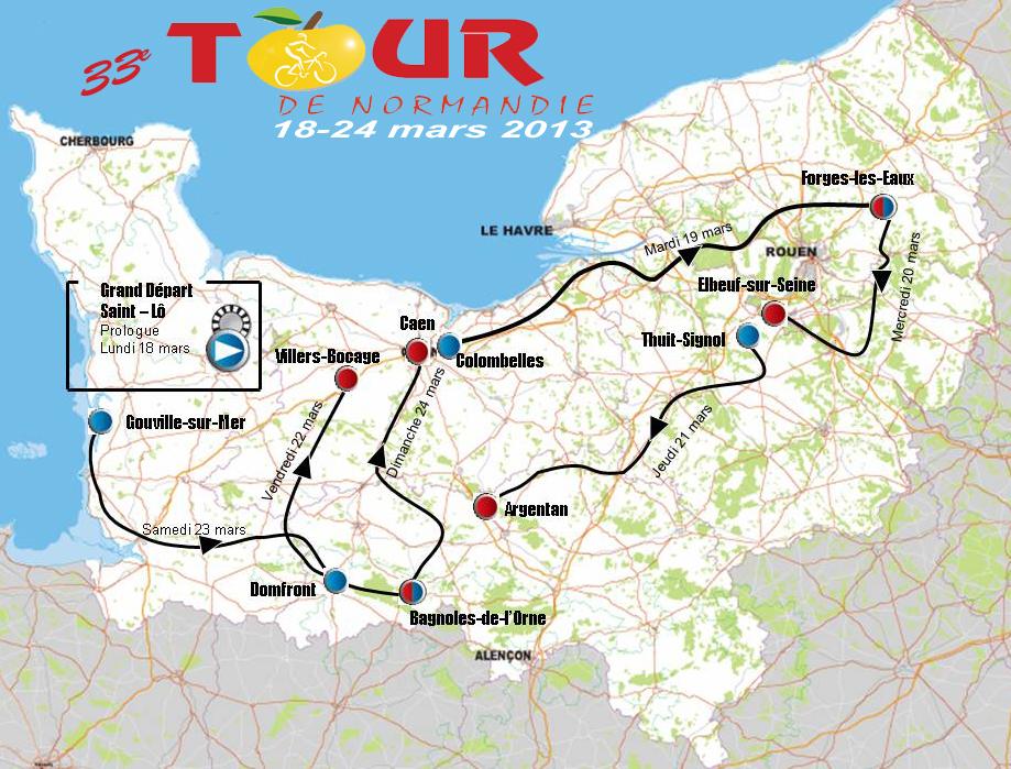 Tour de Normandie cycliste 2013 - Le parcours
