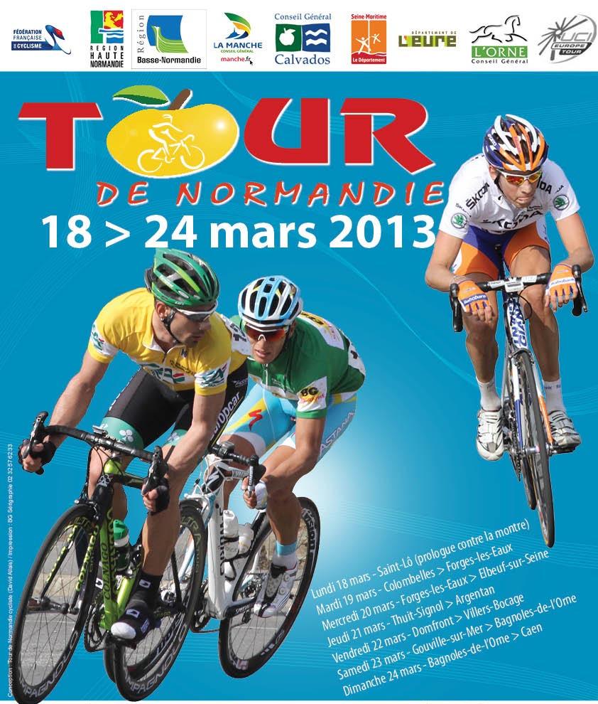 Affiche Tour de Normandie cycliste 2013