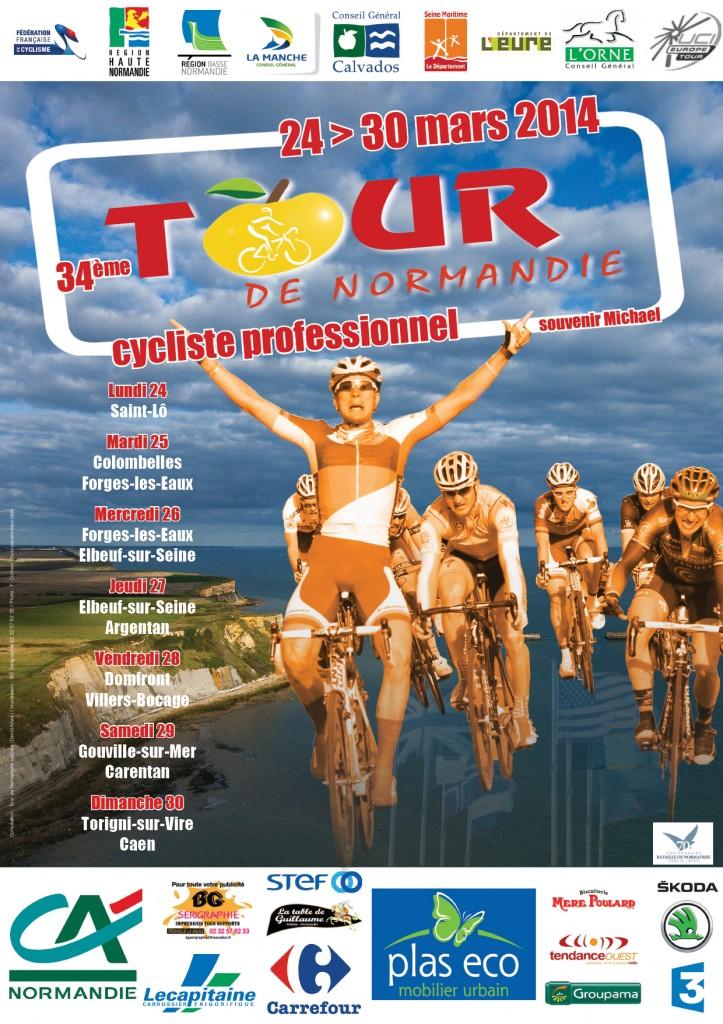 Affiche Tour de Normandie cycliste 2014
