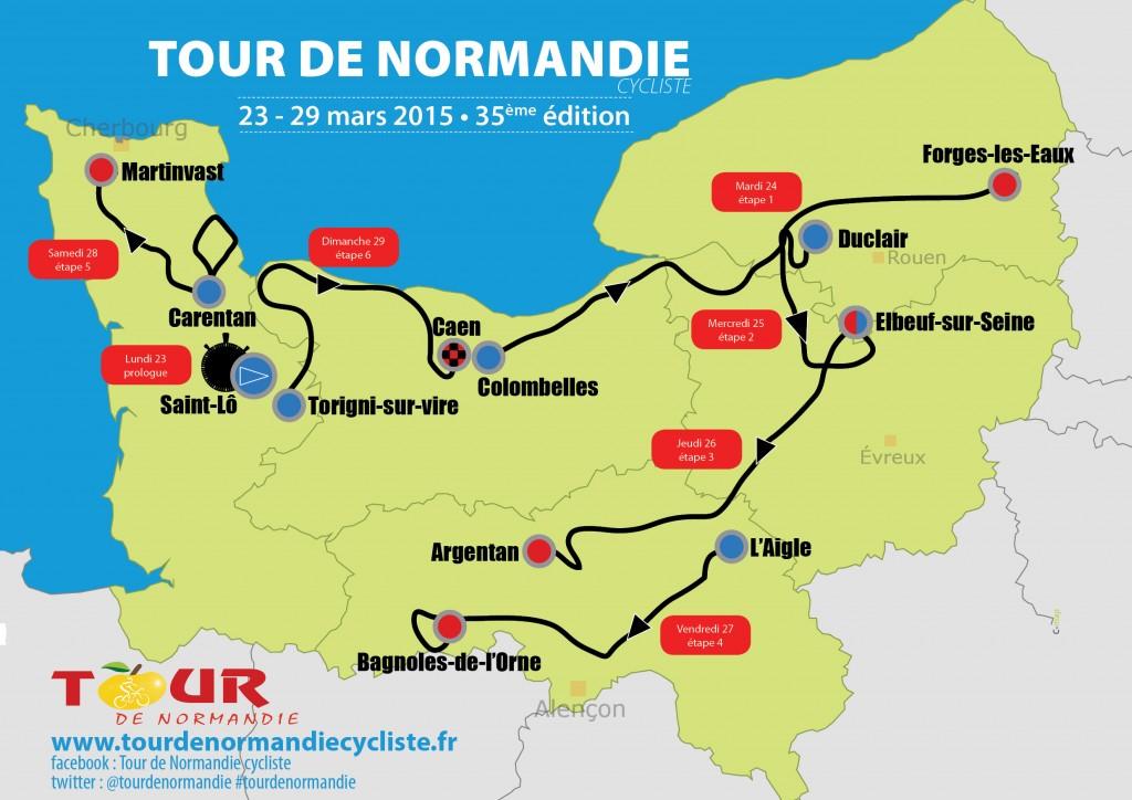 Le parcours du Tour de Normandie 2015