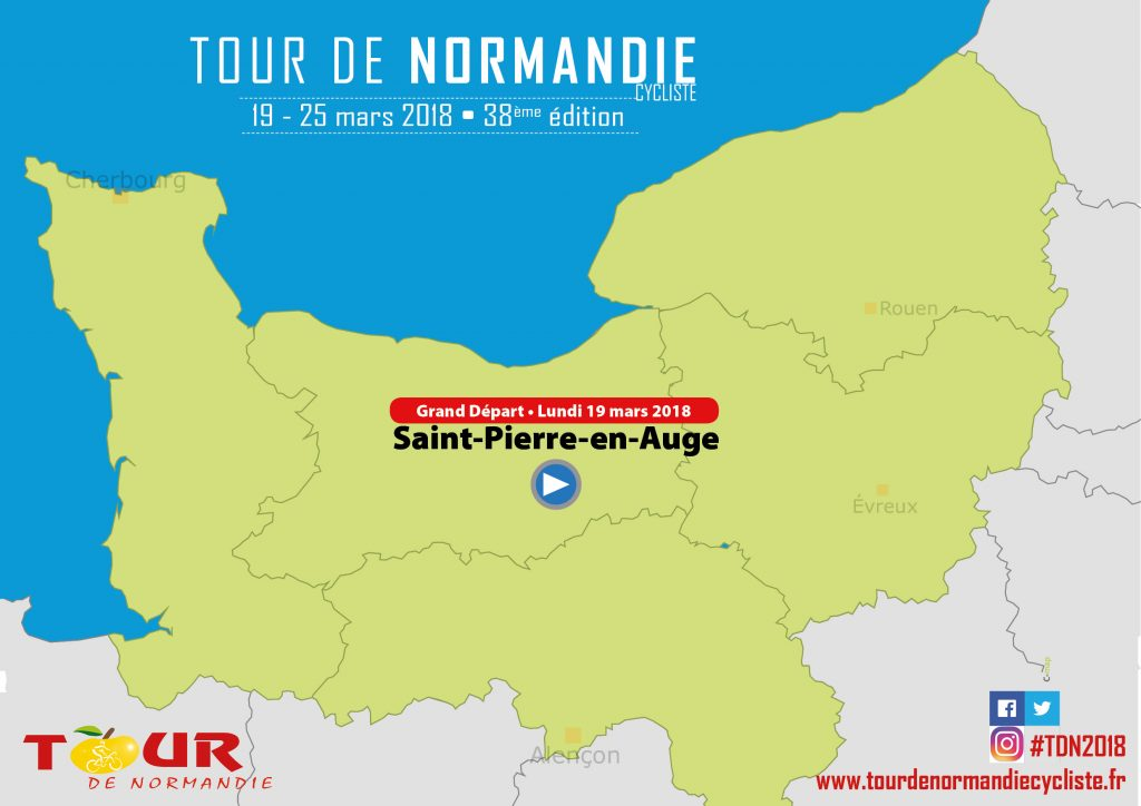 Saint Pierre en Auge grand depart tour de normandie 2018