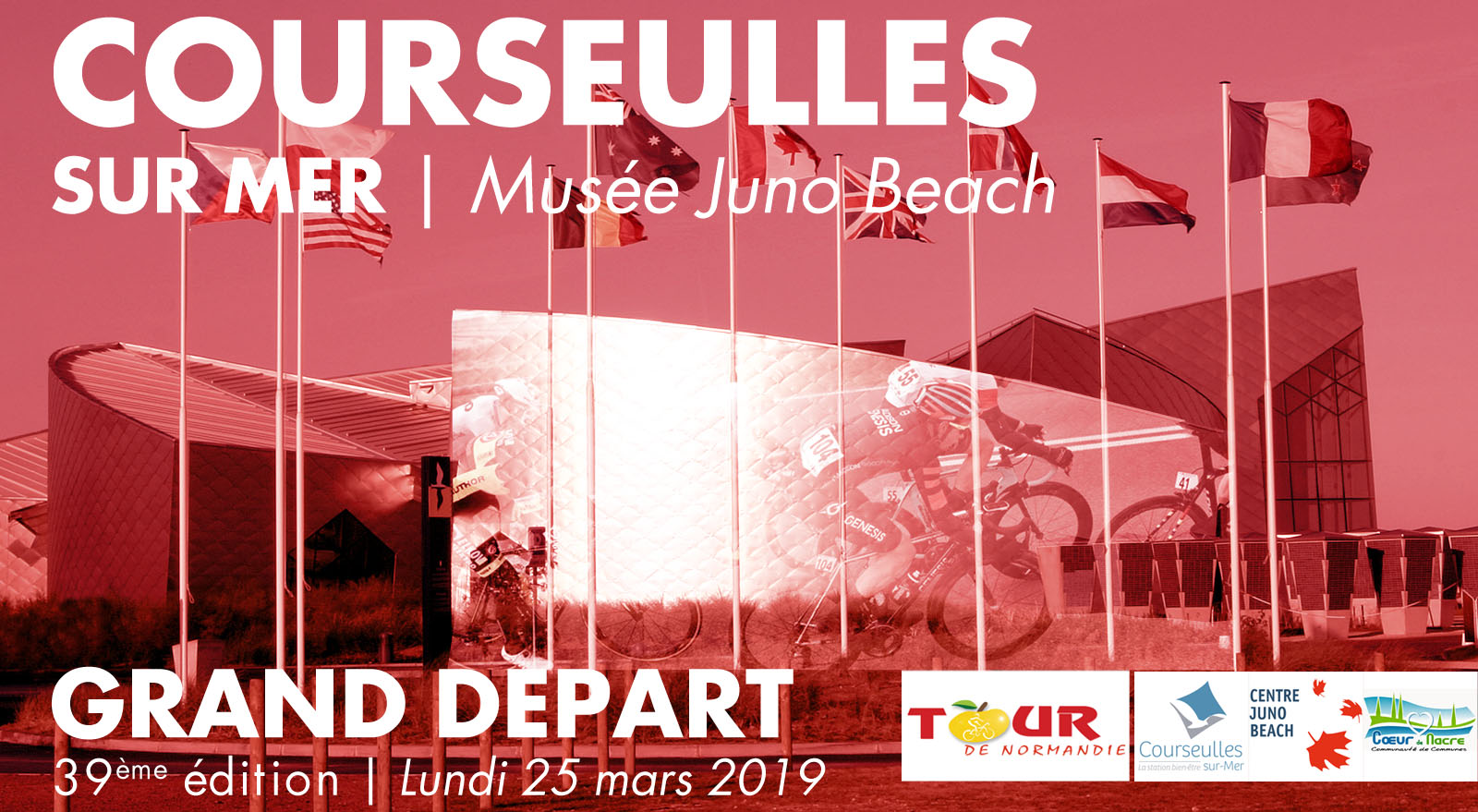 Grand depart 2019 tour de normandie courseulles sur mer juno beach