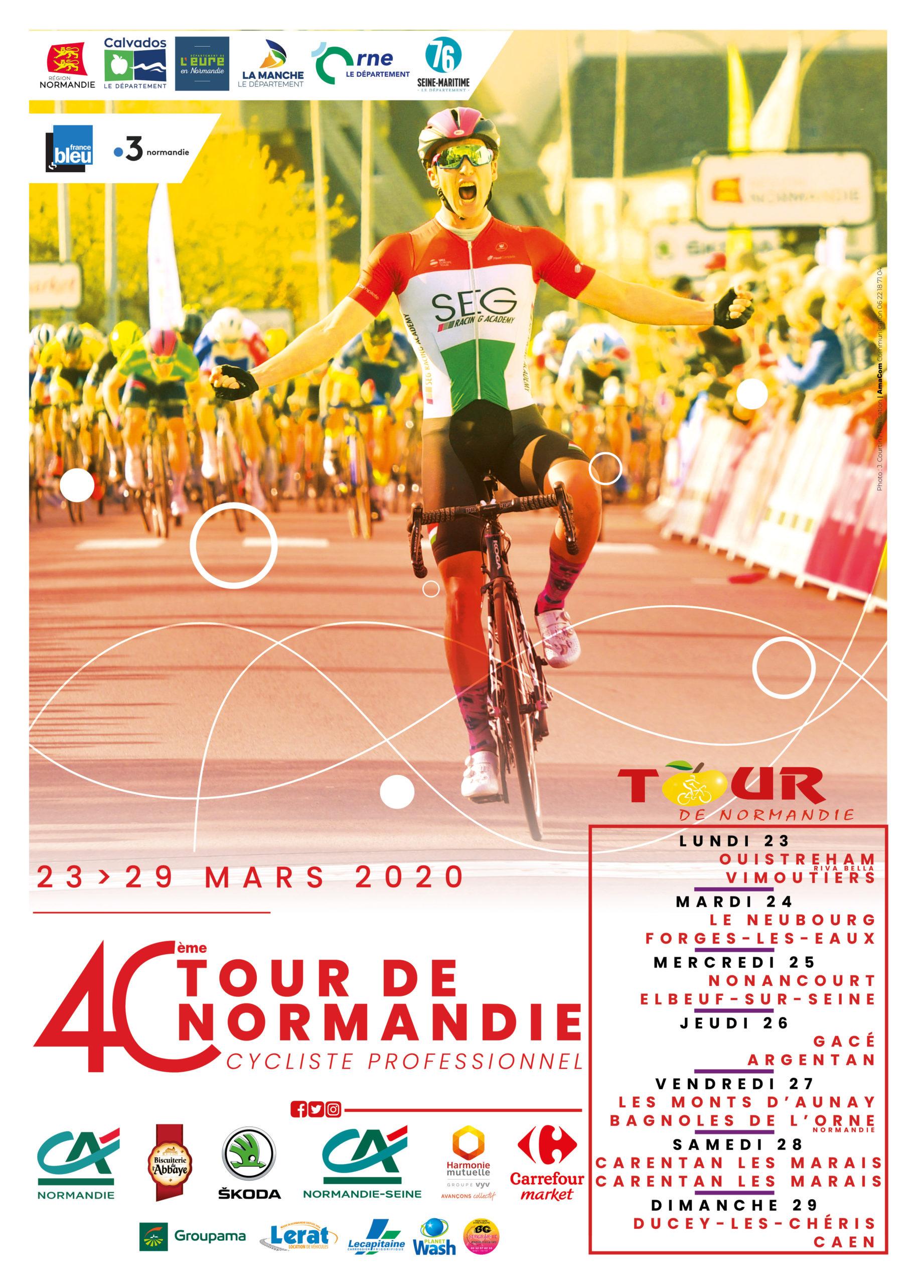 Affiche tour de normandie cycliste 2020