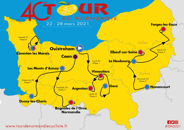 tour de normandie 2021 le parcours