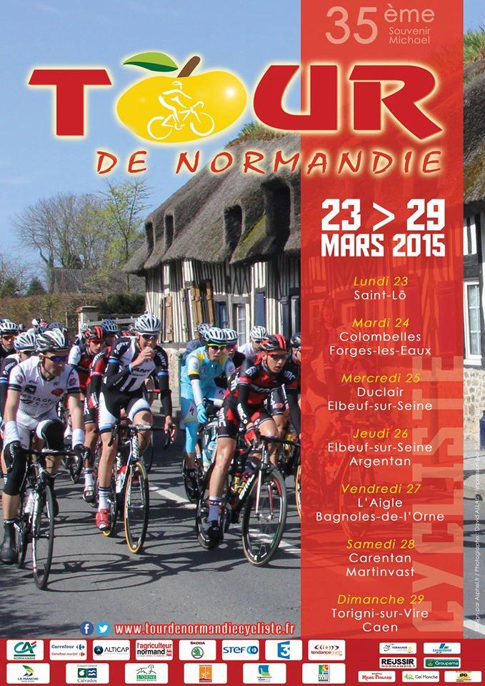Affiche 2015 - Tour de Normandie cycliste