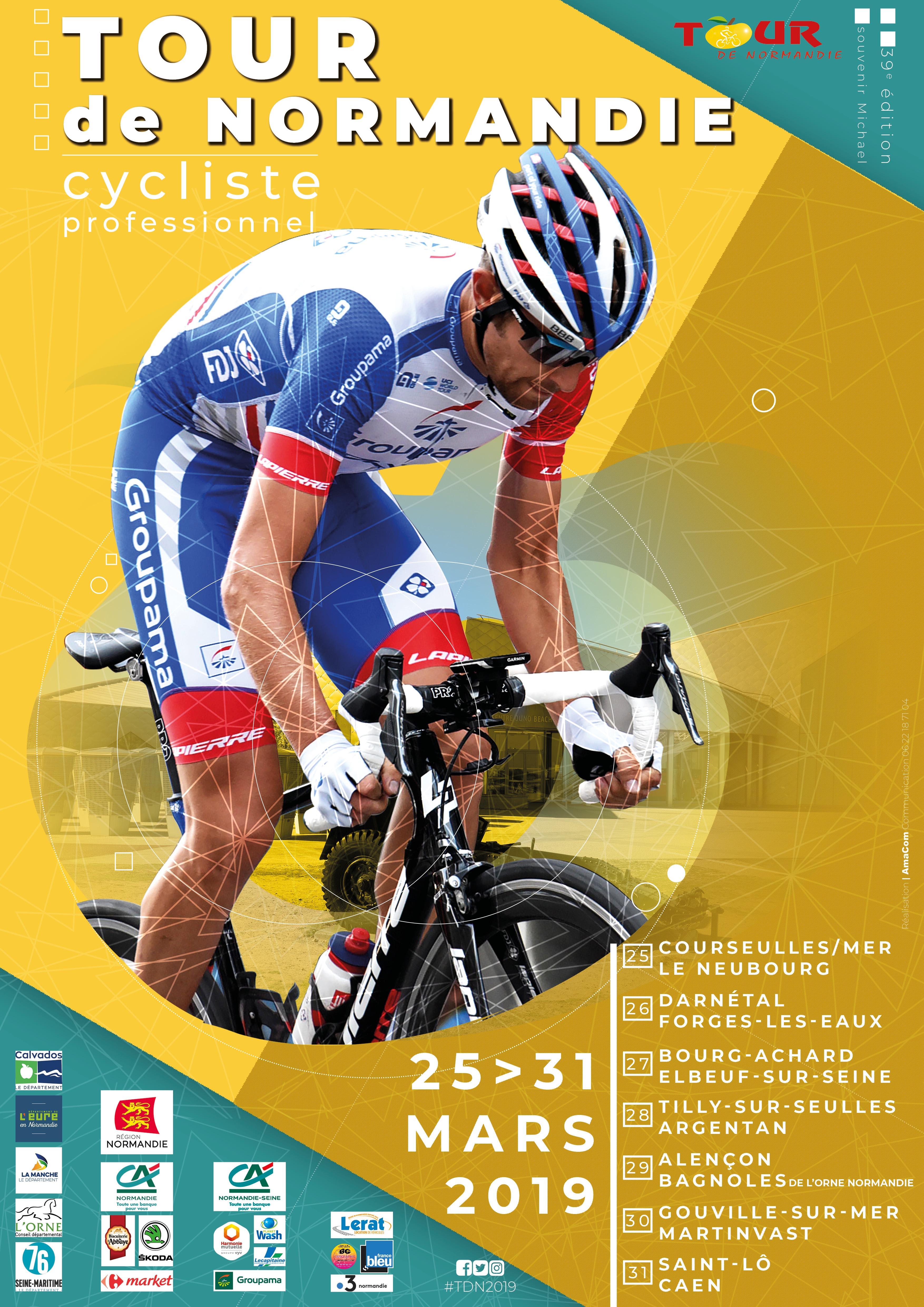 affiche tour de normandie 2019 cyclisme